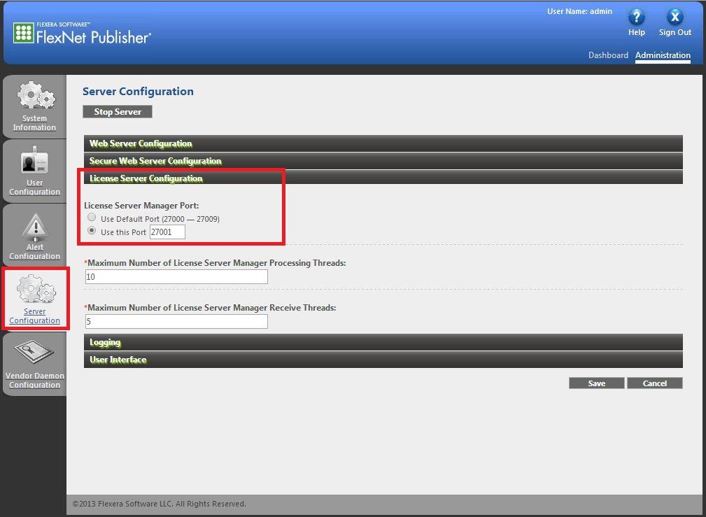Configure license server and vendor daemon TCP port – eCognition